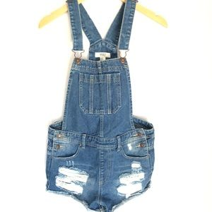 Forever 21 Overalls ShortAlls Distressed 27